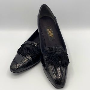 Selby Comfort Flex Black with Tassels pump Size 9A